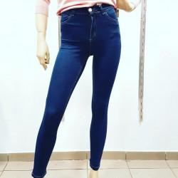 Jean tiro alto azul cost beige