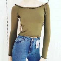Camiseta soft c/frunce en...