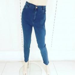Jeans chupin azul gastado...