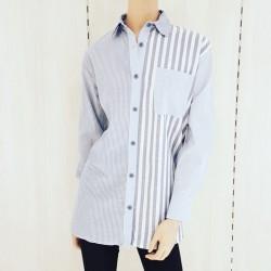 Camisa de fibrana larga...